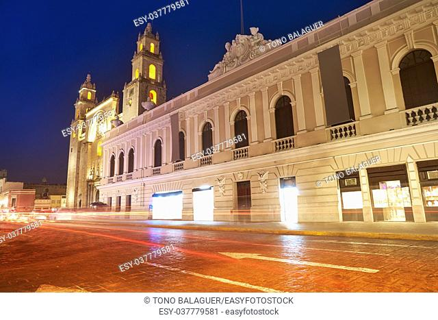 Merida San Idefonso cathedral of Yucatan in Mexico