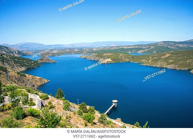 Overview. El Atazar reservoir, Madrid province, Spain