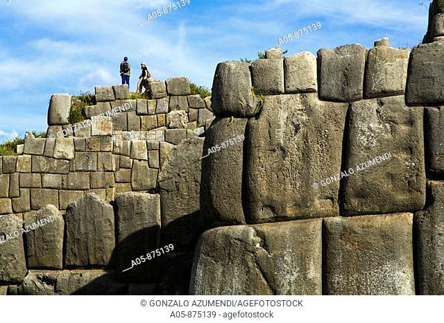 Sacsayhuaman pre-Columbian walled complex near the old city of Cusco, Peru