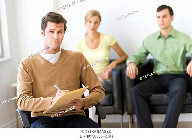 Portrait of psychiatrist in office