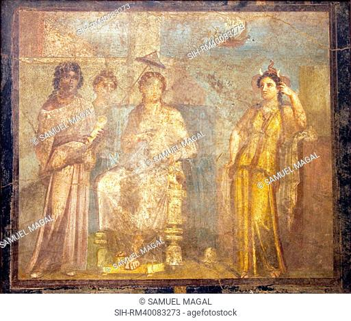 Italy, Naples, Naples Museum, from Pompeii, House of Meleager VI 9, 2.13, Dido Abandoned
