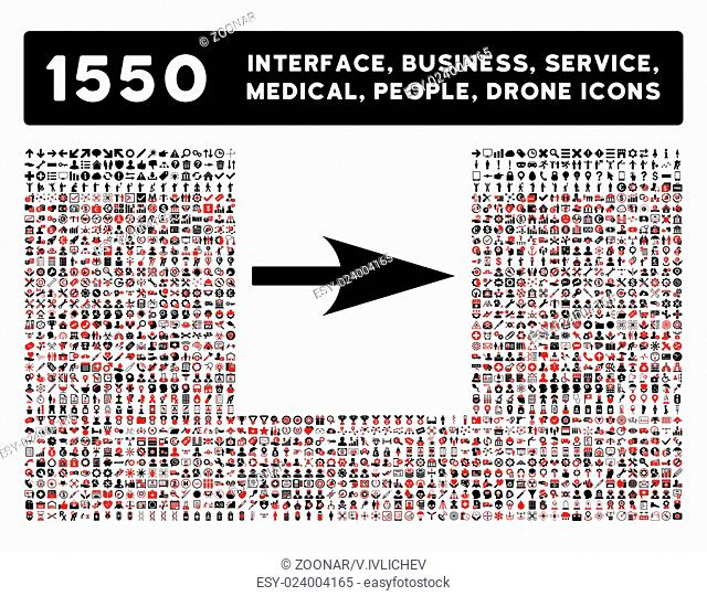 Arrow Axis X Icon and More Interface, Business, Tools, People, Medical, Awards Flat Vector Icons
