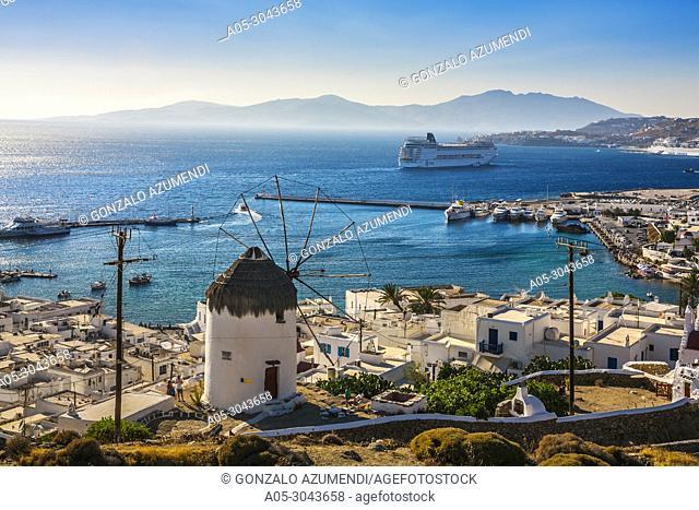 Mykonos Town. Chora. Mykonos Island. Ctclades Islands. Greece