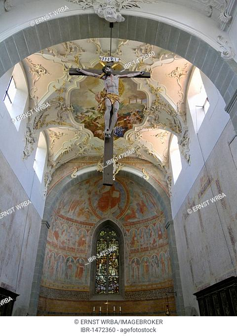 Interior, church St. Peter and Paul Niederzell, UNESCO world heritage, Reichenau island, Lake Constance, Baden-Wuerttemberg, Germany, Europe
