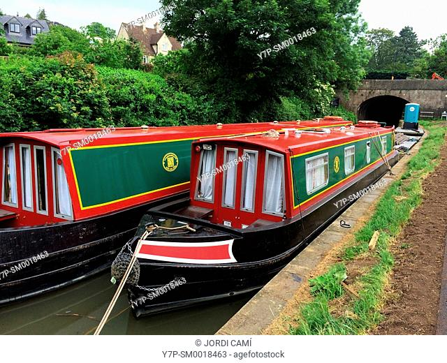 Houseboats. Avon Canal,Bath. Somerset. England. United Kingdom