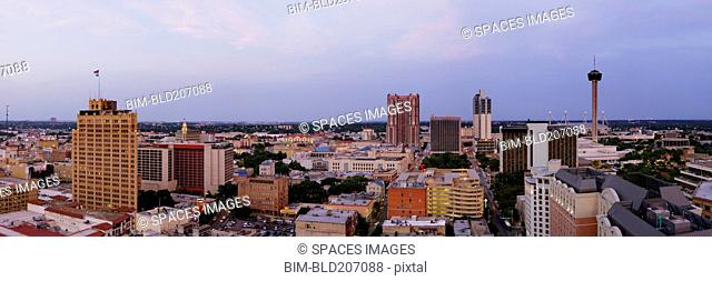 Panoramic Skyline of San Antonio