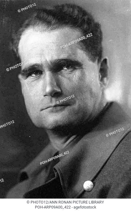 Rudolf Hess (1894–1987) prominent figure in Nazi Germany. Acted as Adolf Hitler's deputy in the Nazi Party from 1926-1941