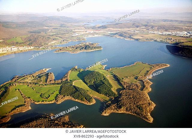 Urrunaga reservoir, Legutiano, Alava, Basque Country, Spain
