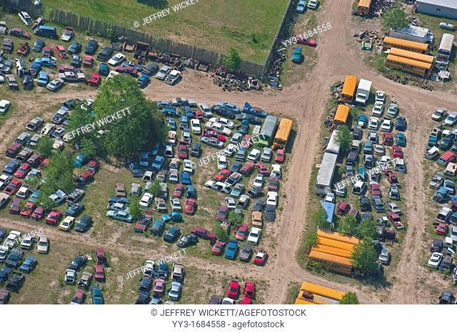 Junk yard in Wexford County, Michigan, USA