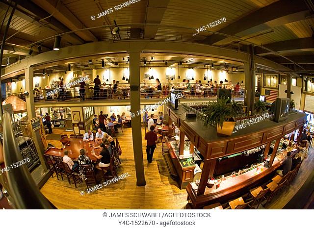 Interior of Downtown Grill and Brewery on Gay Street in downtown Knoxville Tennessee