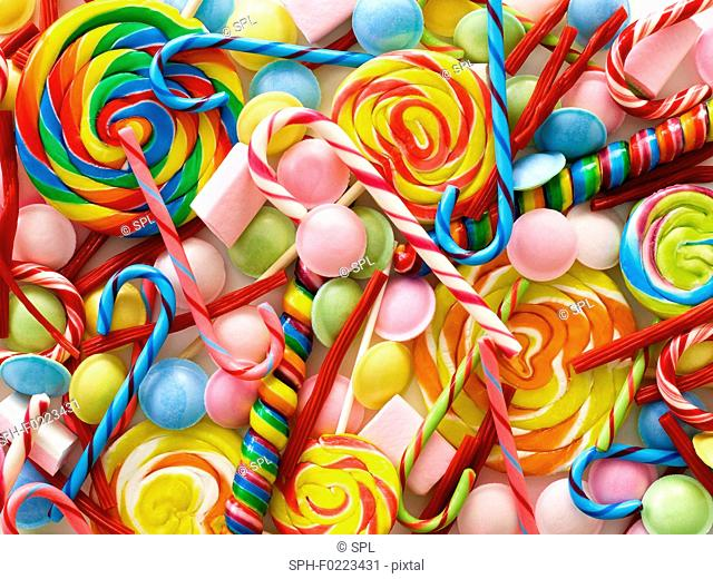 Sweets and candy canes