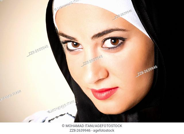 Beautiful young Middle Eastern Muslim woman