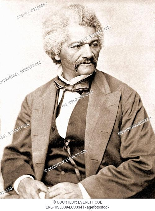 Frederick Douglass 1818-1895, former slave and abolitionist broke whites' stereotypes about African Americans in the decades prior to the U.S