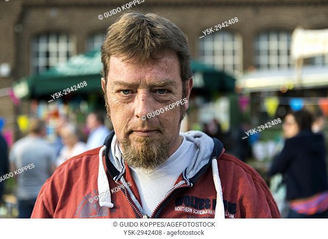 Tilburg, Netherlands. Portrait mature adult caucasian male with beard