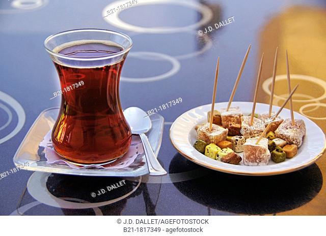 'Çay' tea and 'lokum', Turkey