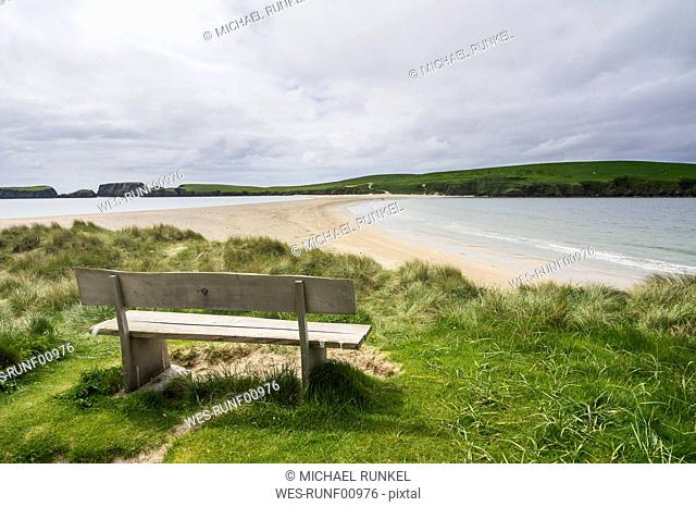 United Kingdom, Scotland, Shetland Islands, sand beach of St Ninian's isle