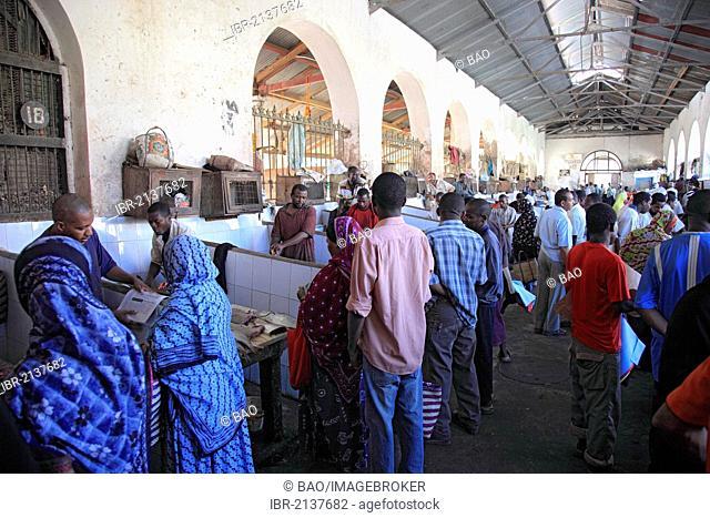 Market hall in Stone Town, Zanzibar, Tanzania, Africa