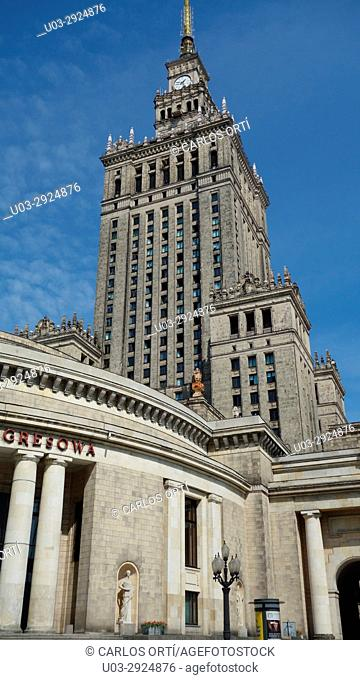 Palace of Culture and Science, Warsaw, Poland's capital city, Europe