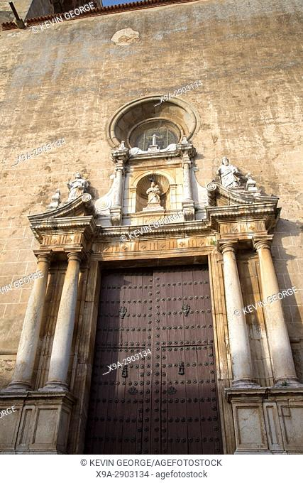 Entrance to Candelaria, Church, Zafra, Extremadura, Spain