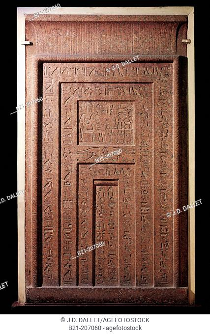 False door from tomb of Puyem-Re, prophet of Amon, 18th dynasty. Egyptian Museum. Egypt