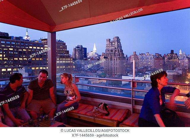 Meatpacking District  G-Lounge  on the roof of the Hotel Gansevoort  18 Ninth Av at 13th,New York City, USA