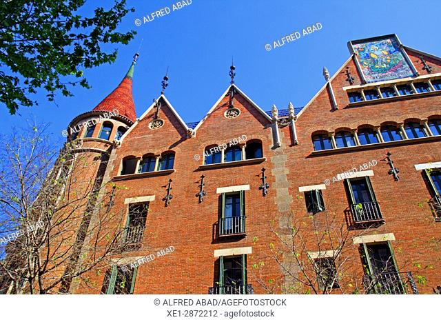 Casa Terradas, 'The House of the Punxes', arch. Josep Puig i Cadafalch, Barcelona, Catalonia, Spain