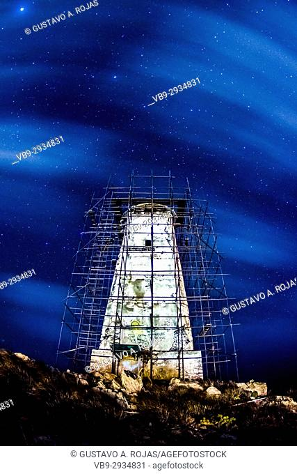 Abandoned Lighthouse, Los Roques venezuela,Milky Way,