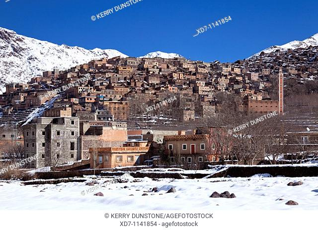 Morocco High Atlas Mountains Imlil Mountain village of Armed