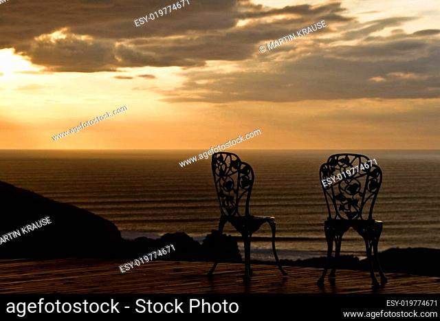 two romantic chairs