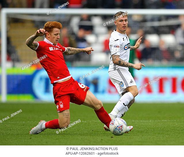 2018 EFL Championship Football Swansea City v Notts Forest Sep 15th. 15th September 2018, Liberty Stadium, Swansea, Wales; EFL Championship football