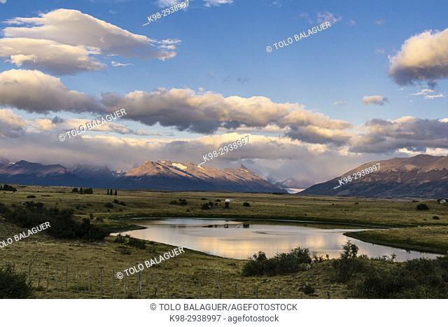 Pampas near Lago Roca, El Calafate ,Parque Nacional Los Glaciares Patagonia, Argentina