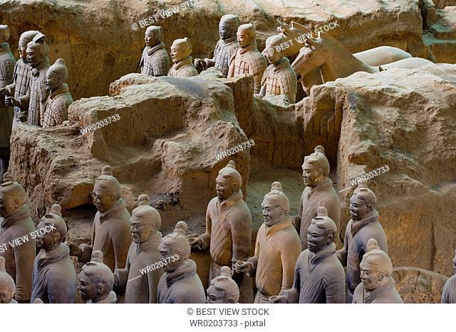 the Emperor Qins Terra-cotta Warriors,Terra-cotta,Terracotta,Terra cotta,Xian
