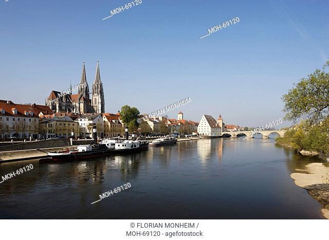 Blick über die Donau von Nordosten