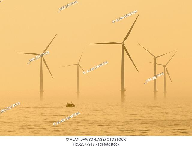 Teesside Offshore Windfarm near Redcar on the north east coast of England, United Kingdom