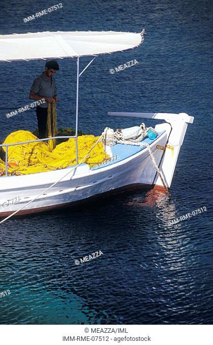 Fishing boat, Porto Roxa, Zakynthos, Ionian Islands, Greece