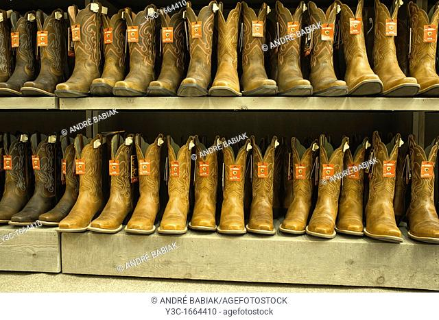 Western Boots in American Shopping Center in Texas