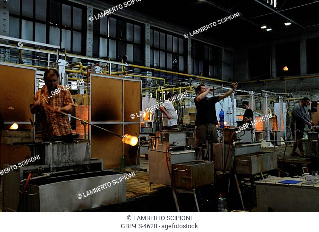 People, Factory, Moser crystals, 2014, Karlovy Vary, Czech Republic