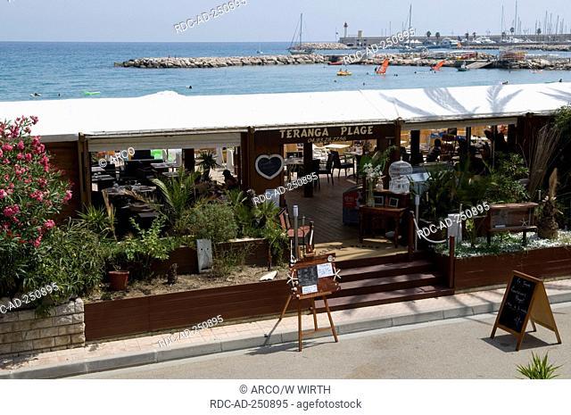 Restaurant Teranga Plage seaside promenade Menton Cote d'Azur Provence Southern France