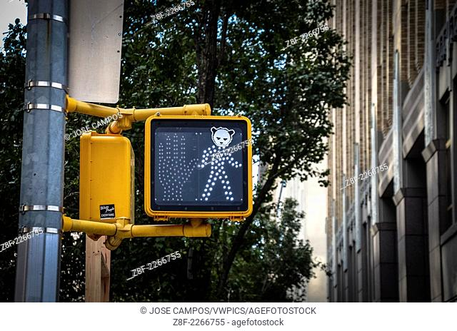 Stop light. Soho, NYC