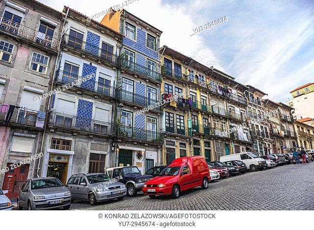 on Rua das Taipas street in Porto city on Iberian Peninsula, second largest city in Portugal
