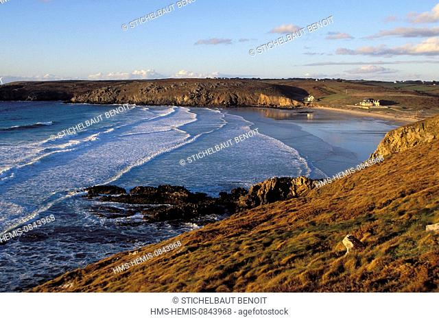 France, Finistere, Iroise Sea, Plogoff, Baie des Trepasses, between the Pointe du Raz and the Pointe du Van