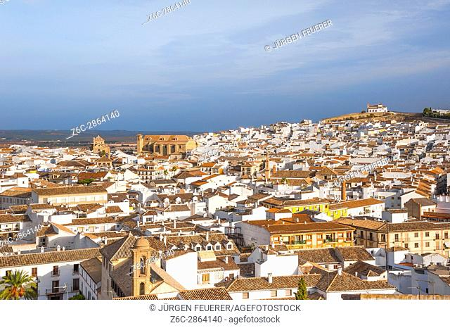 panorama of the town Antequera in the province of Málaga, Andalusia, Spain