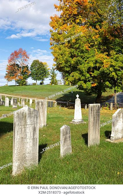 Arch Hill Cemetery in Northfield, New Hampshire USA during the autumn months