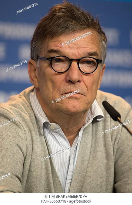 French director Benoit Jacquot attends the press conference for 'Diary of a Chambermaid' during the 65th annual Berlin Film Festival, in Berlin, Germany