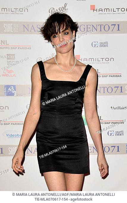 Micaela Ramazzotti during the photocall of nominations Nastri d'Argento 2017, Rome, ITALY-06-06-2017