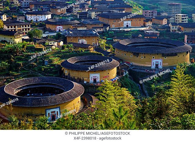 China, Fujian province, Chuxi village, Tulou mud house. well known as the Hakka Tulou region, in Fujian. In 2008, UNESCO granted the Tulou ''Apartments'' World...