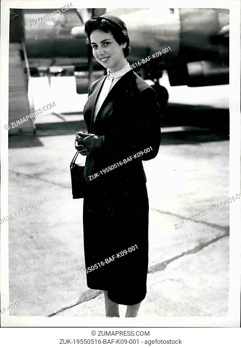 May 16, 1955 - 16-5-55 Lufthansa Air Service officially re-opens ?¢'Ǩ'Äú The first German Lufthansa Air Service carrying paying passengers arrived at London...