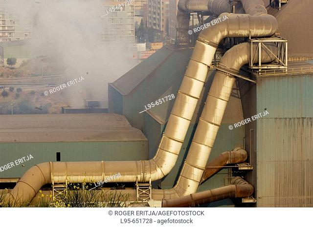 Heavy industry devoted to metal transformation, Barcelona, Spain
