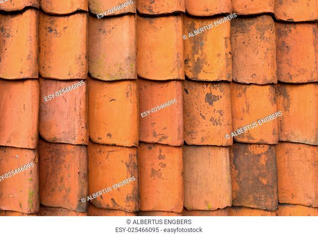 seamless orange roof tiles background