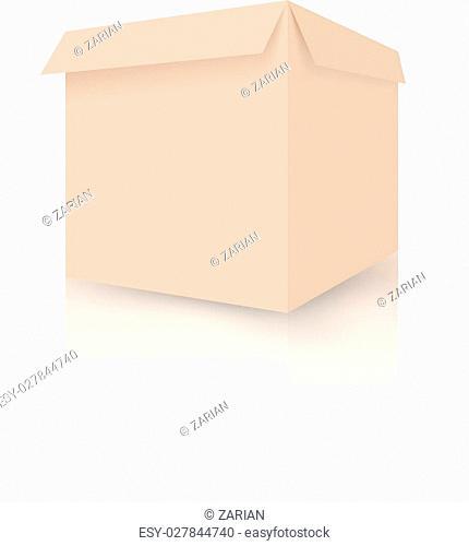 Open cardboard box, vector illustration